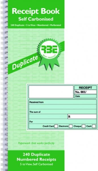 cash receipt book rbe duplicate 5 up yellow dot